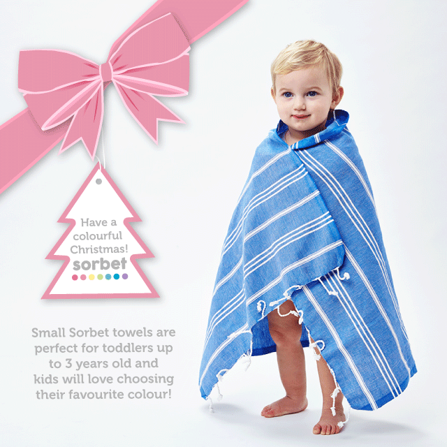 SORBET TOWELS CHRISTMAS GIFT GUIDE kids little ones toddlers