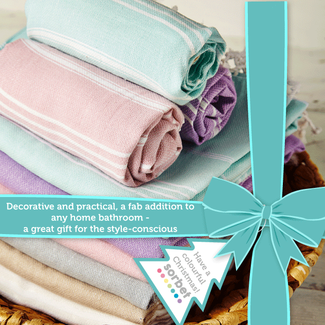SORBET TOWELS CHRISTMAS GIFT GUIDE home gift bathroom interiors diy home decor