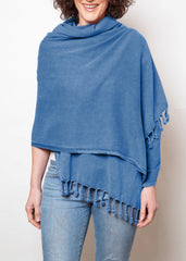 lady wearing sea blue hammam wrap