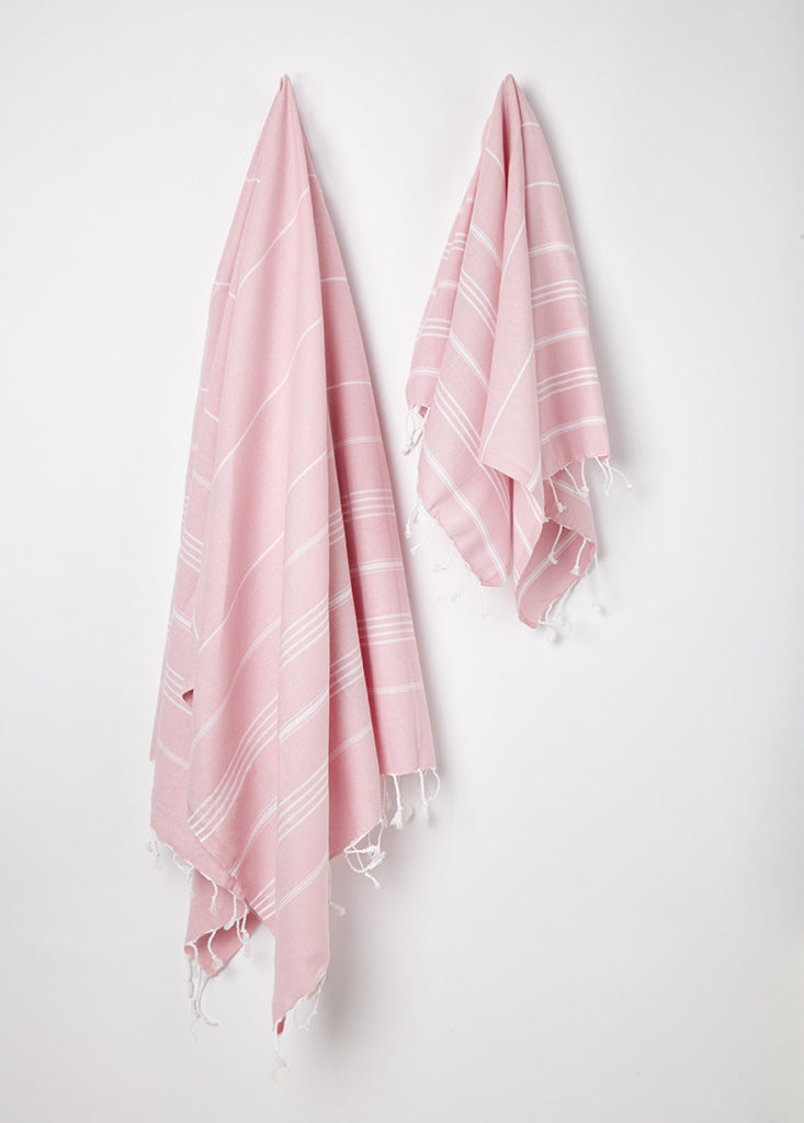 light pink hammam tea towel