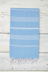 Sorbet Hammam Towel in Blue Skies