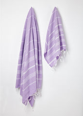 lavender hammam towels made from cotton