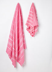 traditional turkish pink hammam towel uk