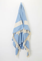 turkish blue cotton throw