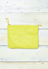 Yellow coin purse for beach and travel