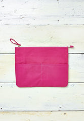 bright pink clutch for beach or everyday