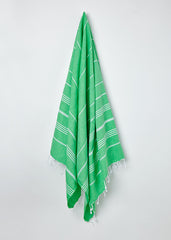 Hanging Sorbet Large Hammam Towel in Apple Green