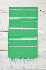 Sorbet Hammam Towel in Apple Green