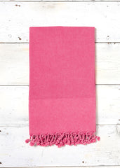Pink coral washed hammam towel