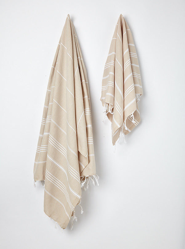 ginger cotton hammam bath towel & hand towel