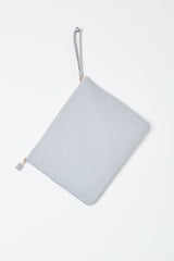 grey zip up beach pouch