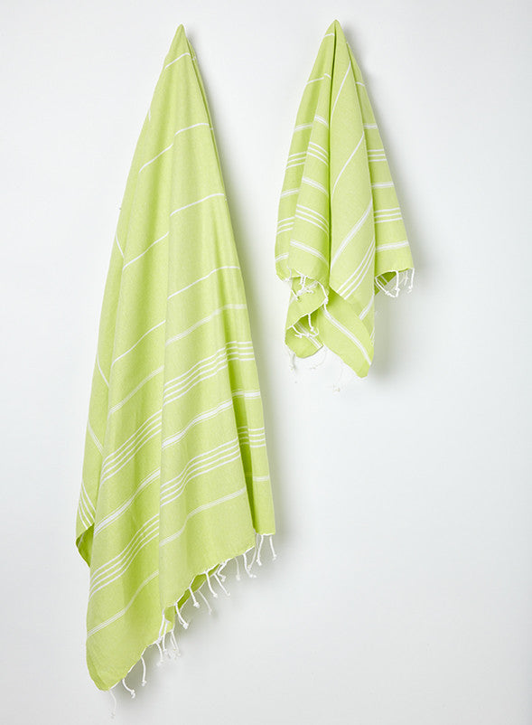 buy lime green turkish hammam towels uk