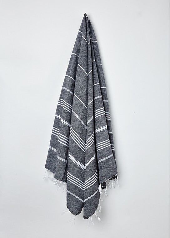 traditional turkish hammam towel black