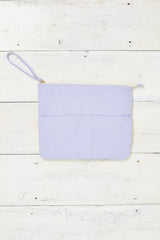 lavender beach clutch bag