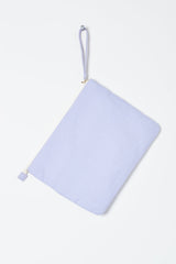 lilac beach clutch bag for hammam towel