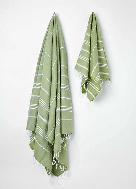 green cotton turkish hammam towel uk