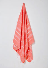 coral peach turkish hammam towel