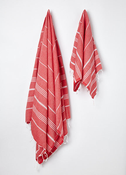 buy red turkish hammam towel uk