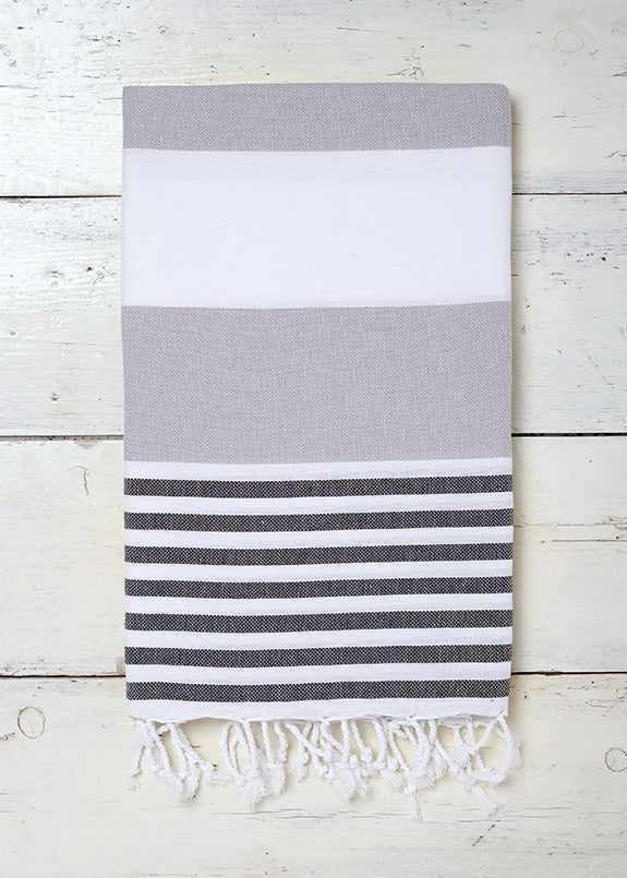 Sorbet stylish Turkish towel in Monochrome