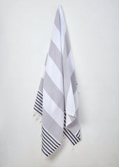 Hanging 'Rocky Road' Monochrome Turkish Towel by Sorbet Ltd