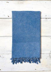 Sea blue washed hammam wrap