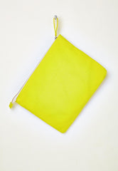 yellow cotton clutch for beach or everyday