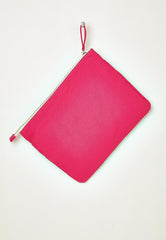 hot pink beach clutch bag