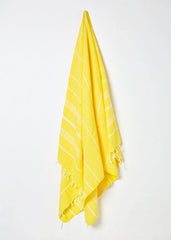 traditional turkish hammam towel yellow