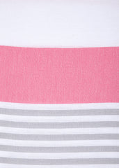 Detail of Strawberries and Cream hammam towel by Sorbet Ltd