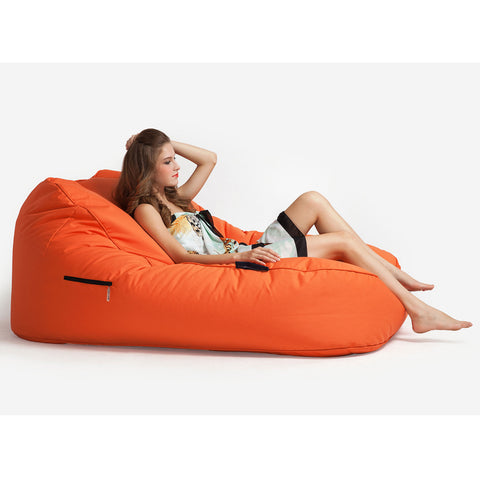 Luxury Orange Quilted Outdoor bean bag (Desert Sunset) by Ambient Lounge