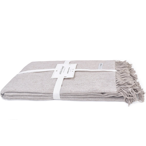 Throw - Australian Wool Throw - Camel Tea