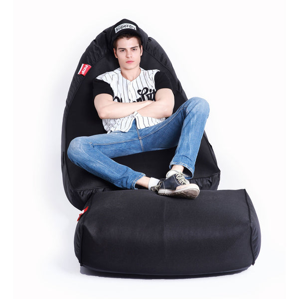 VIP Sofa + Ottoman - Gangsta Black Set