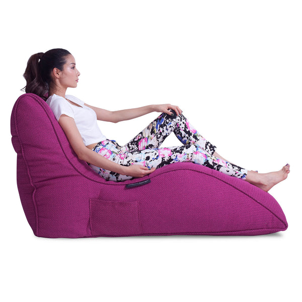 pink indoor bean bag by Ambient Lounge