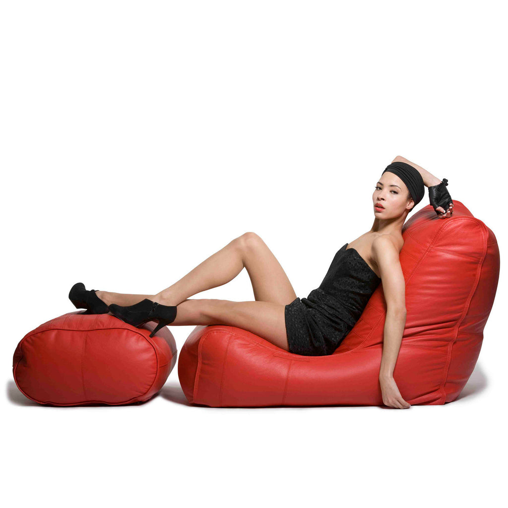 Red Leather Bean Bags