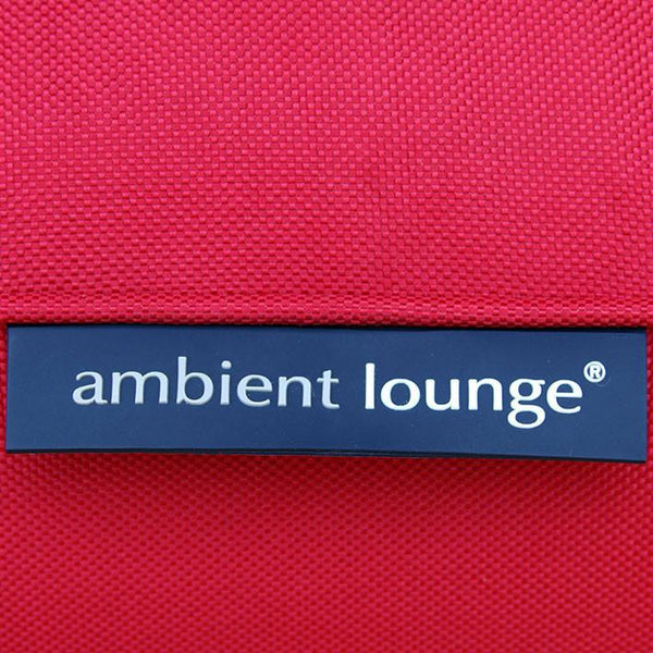 red zen lounger bean bag by Ambient Lounge