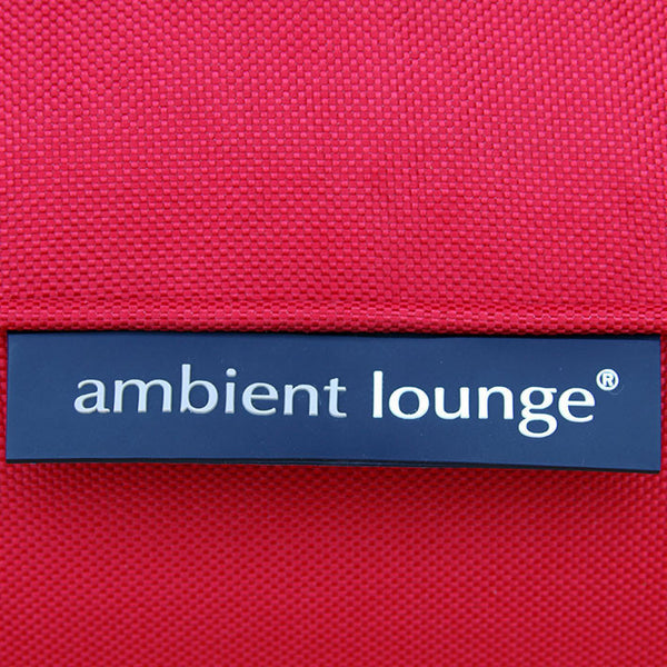 red studio lounger bean bag by Ambient Lounge