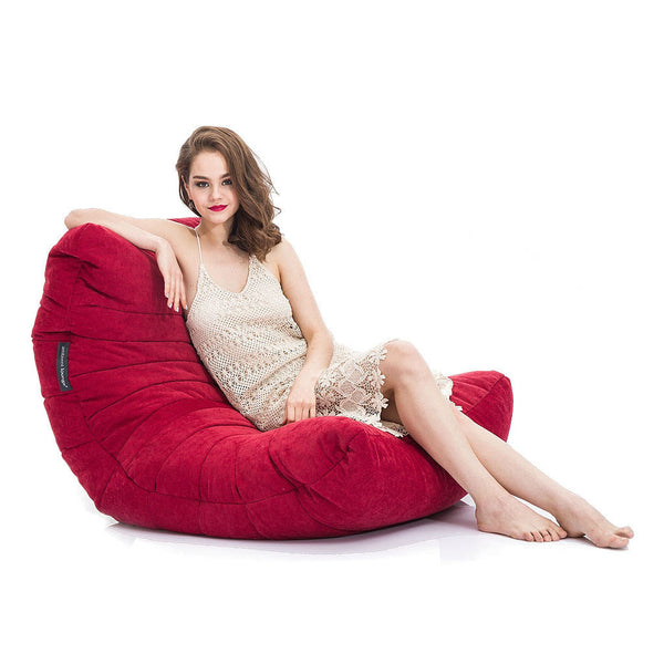 red acoustic bean bag by Ambient Lounge