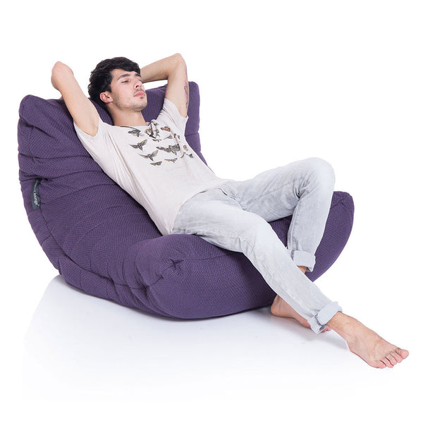 violet acoustic bean bag by Ambient Lounge