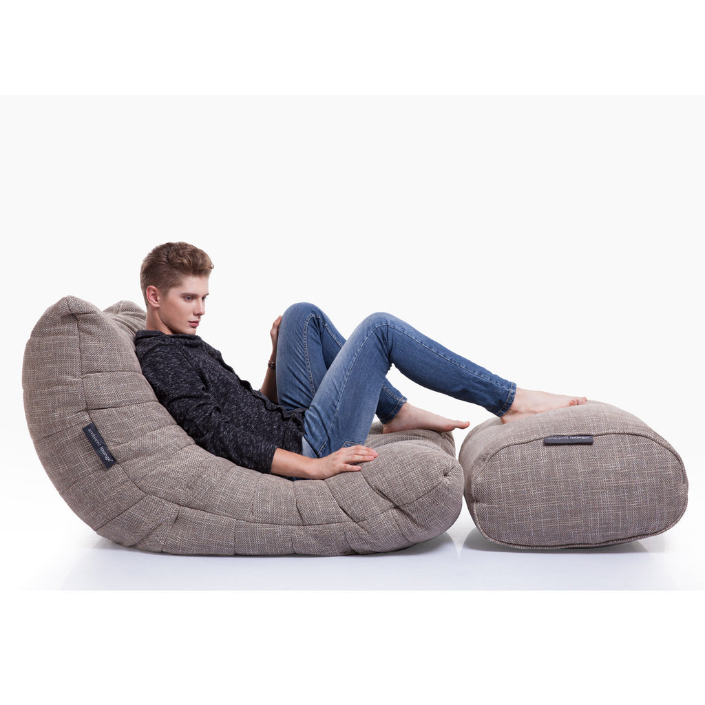 interior bean bags  acoustic sofa  eco weave  bean bag sofa  -  beiege acoustic bean bag by ambient lounge