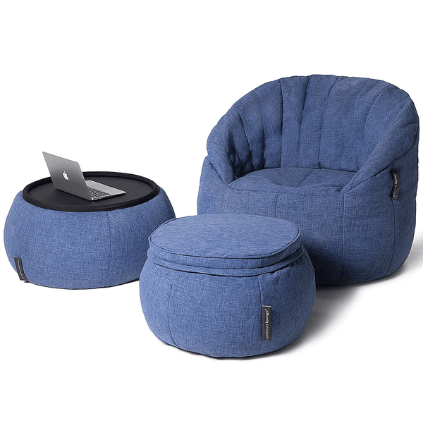 blue designer sofa set bean bag by Ambient Lounge