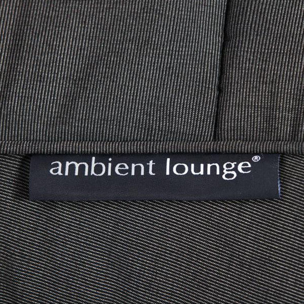 black designer sofa set Sunbrella fabric bean bag by Ambient Lounge