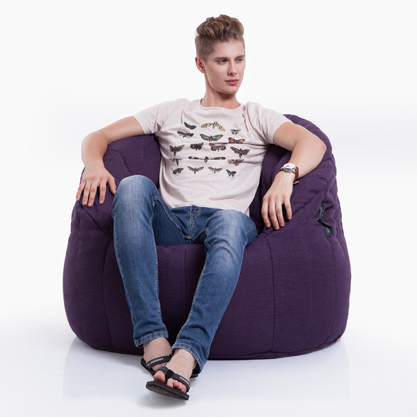 purple  indoor bean bag by Ambient Lounge
