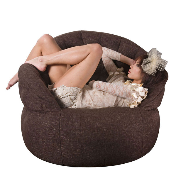 brown indoor bean bag by Ambient Lounge