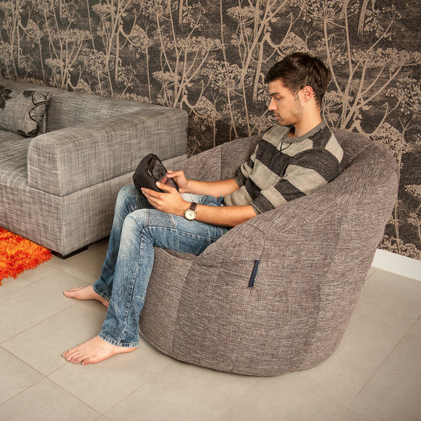 grey indoor bean bag by Ambient Lounge