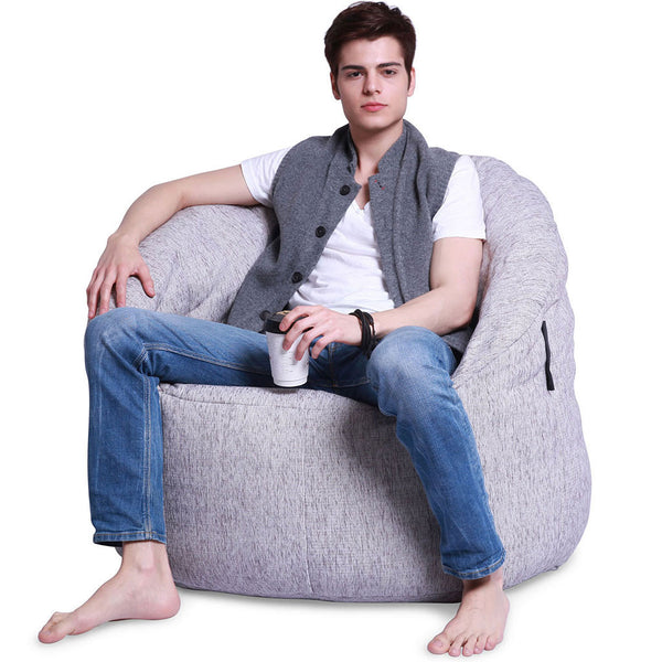 white indoor bean bag by Ambient Lounge