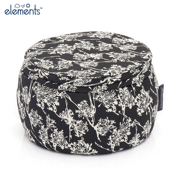 black and white wing ottoman bean bag by Ambient Lounge