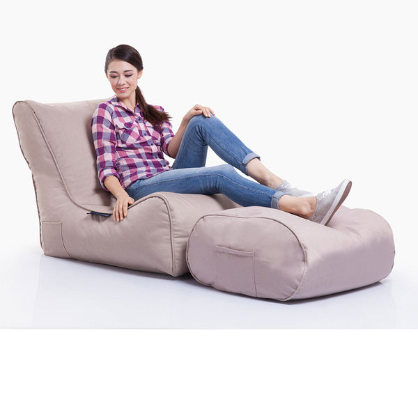 cream evolution bean bag by Ambient Lounge