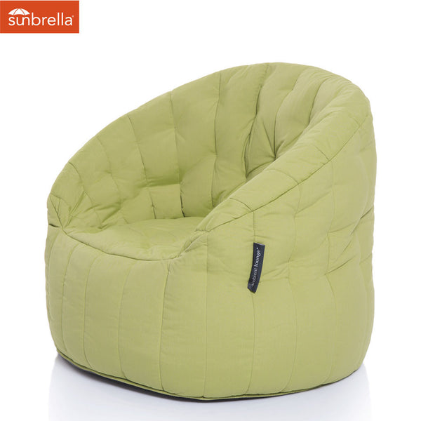 lime green butterfly Sunbrella fabric bean bag by Ambient Lounge