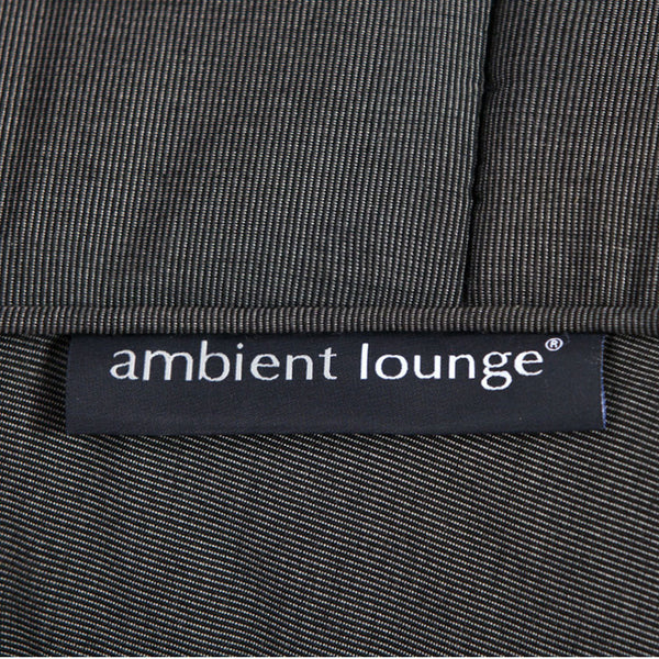 black satellite twin Sunbrella fabric bean bag by Ambient Lounge