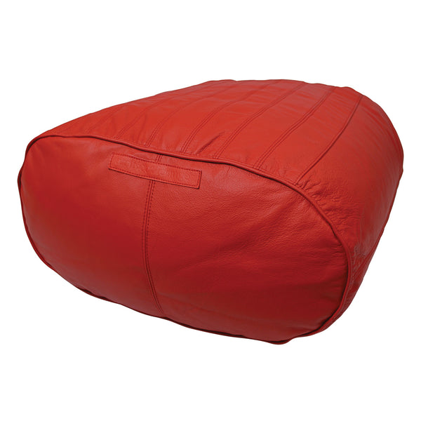 Outlet Fiorenze Ottoman Only Hellfire Red Genuine Leather